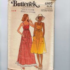 1970s Vintage Sewing Pattern Butterick by historicallypatterns, $9.00