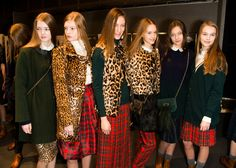 Leopard and Plaid... I love!   Backstage at Blugirl's Alexa Chung-inspired 2013 fall show.