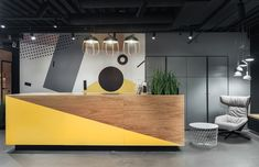 WORKKI Neo-Geo Co-Working Space: The First Project of Co-Working Spaces with Industrial Interior and United Space Gym Interior, Industrial Interior Design, Industrial Interiors, Office Interior Design, Office Designs, Modern Interior, Space Interiors, Office Interiors, Office Reception Design