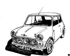 more about cheap cars. Click the link for more~~ The web presence is . - Fantastic Sports Cars ->>Discover more about cheap cars. Click the link for more~~ The web presence is . Mini Drawings, Car Drawings, Classic Mini, Classic Cars, Scooters, Mini Cooper Sport, Minis, Mini Copper, Car Illustration