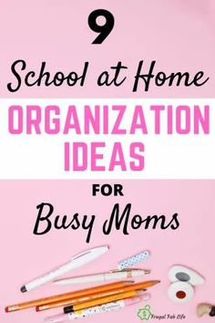 Overwhelmed with back to school in 2020? These organization ideas for busy moms will help you set up a great spot for school at home and set up a schedule that works for your family. | frugalfablife.com