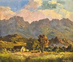 View Near Suurbraak by Tinus de Jongh on artnet. Browse upcoming and past auction lots by Tinus de Jongh. Landscape Art, Landscape Paintings, Oil Paintings, Landscapes, African Artists, Art Studios, Love Art, Worcester, Drawings