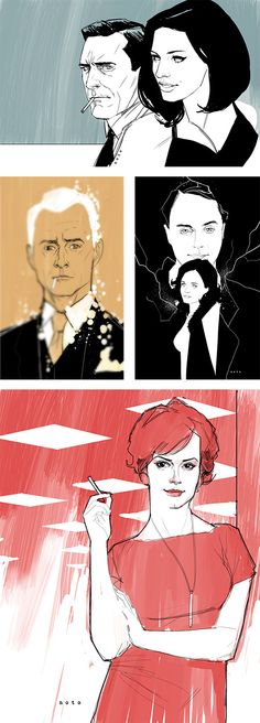 Some mad (get it?) illustrations by Phil Noto. #illustration