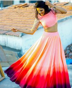 The ombré effect # lehenga # Indian wear #