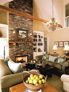 Large Stone Fireplace Ideas - Studio All Day | Studio All Day