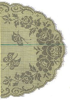Serwety filetowe i inne - - Picasa Web Albums Crochet Patterns Filet, Crochet Designs, Crochet Table Runner, Crochet Tablecloth, Thread Crochet, Crochet Stitches, Broderie Bargello, Crochet Dollies, Fillet Crochet
