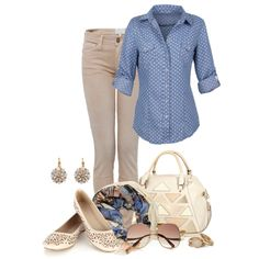 """Chambray Shirts"" by simona-risi on Polyvore"
