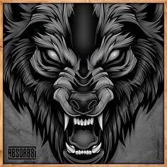 No photo description available. Phoenix Tattoo Design, Wolf Tattoo Design, Skull Tattoo Design, Dragon Tattoo Designs, Tribal Tattoo Designs, Wolf Face Tattoo, Wolf Tattoos, Animal Tattoos, Head Tattoos