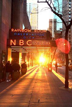 Rainbow Room, NBC Studios. Sun