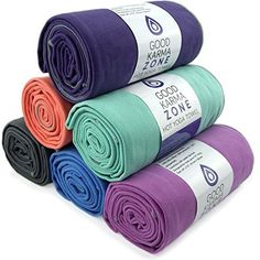 Bikram Hot Yoga Towel - STOCK CLEARANCE - Microfiber Non Slip Skidless Yoga  Mat Towels for 1a9eb93009e6c