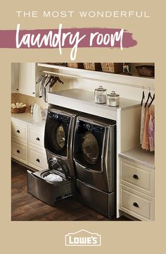 "Explore our web site for more info on ""laundry room stackable washer and dryer"". It is an excellent spot for more information. Small Space Interior Design, Interior Design Kitchen, Interior Design Living Room, Living Room Designs, Laundry Room Remodel, Laundry Rooms, Pavillion, Paint Colors For Living Room, Small Room Bedroom"