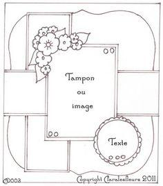 Sketch carte - boutique Art du Scrapbooking par Claralesfleurs 2011