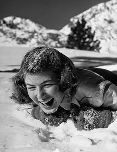Ingrid Bergman __ Lord Knows, Lutheran Swedes and Norwegians sure do LOVE the snow, even if it's made in Hollywood ;-D
