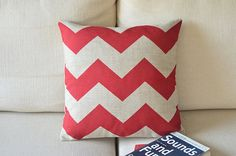 Chevron print  Zig Zag printed  Linen Cushion covers pillow cover
