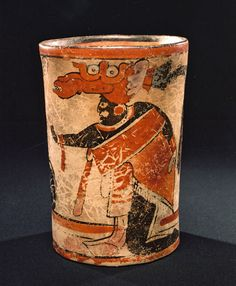 Ancient Art   Ceremonial Vase Representing Two Ball Players - Maya - The Curator's Eye