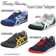 Of course we all love to sport our team's jerseys during the NFL pre-game festivites but are we neglecting our feet? You'll need one pair of sneakers in your BattleShop.co Tailgate Weekend closet so complete your super fan look with Asics Onitsuka Tiger 81 sneakers on Amazon. They have great shades for the feet of every super fashionable fan. Can you compete on the field of fashion? Head to www.BattleShop.co and build a dream wardrobe today! The top 3 closets each week win AMEX gift cards.