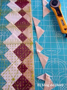 El blog de Dori: patchwork seminole This is really a great tutorial..!