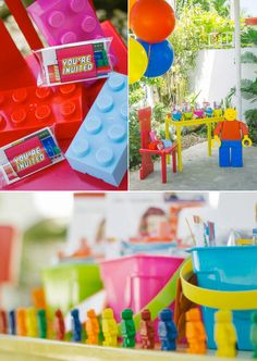 Lego Themed Birthday Party - Kara's Party Ideas - The Place for All Things Party Lego Themed Party, Lego Birthday Party, 6th Birthday Parties, Boy Birthday, Birthday Ideas, Star Wars Lego, Fiesta Baby Shower, Party Time, Party Ideas
