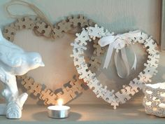 puzzle hearts craft