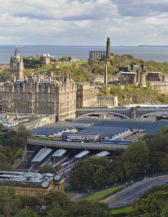 Calton Hill from Edinburgh Castle, Edinburgh, Scotland, UK Scotland Uk, Edinburgh Scotland, Scotland Travel, Castle Scotland, Wonderful Places, Great Places, Beautiful Places, Places Around The World, Around The Worlds