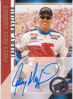 NASCAR PRESS PASS SIGNINGS JEREMY MAYFIELD...FREE SHIPPING!!
