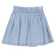 Finger in the Nose Chambray Flair SKirt #ladida #ladidakids