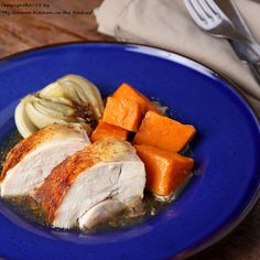 Oven Roasted Maple Chicken with Sweet Potatoes and Fennel Add: Apple, broth