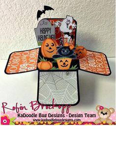 Too Cute Too Spook card in a box