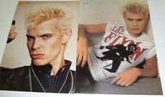 Billy Idol Rebel White Wedding Without A Face VTG Magazine Clippings