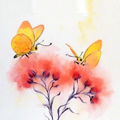 Butterfly Art Watercolor Painting Print Mothers Day by LaBerge, $20.00