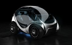 Hiriko folding electric car - Width= 1.75 meter = 5 feet 8 inches