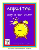Early, On Time, Or Late Elapsed Time Quiz Cards: Just a Minute