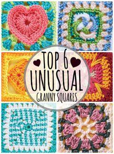 Top Unusual Granny Square on Mooglyblog.com! ༺✿ƬⱤღ https://www.pinterest.com/teretegui/✿༻