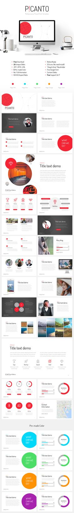 41 best free powerpoint template images on pinterest free keynote picanto ppt template free download toneelgroepblik Choice Image