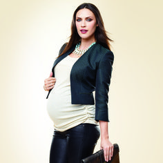 Getting tired of your little black dress? Maternity fashion meets the party season with glam, bump-hugging looks.