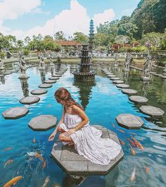 A 'must-visit' place in #Bali, Tirta Gangga Royal Water Garden, Indonesia Photo by: IG @katerinastavreva
