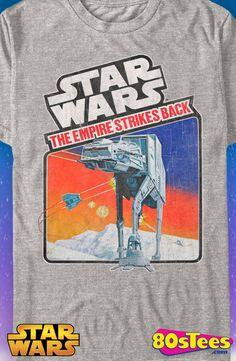 The Empire Strikes Back Video Game T-Shirt: Star Wars Mens T-Shirt With artwork from a popular video game cover this men's fashion is a tribute to gaming history.