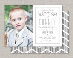 Custom Cards & Party Printables by announcingyou Boy Baptism, Boy Decor, Baptism Invitations, Overnight Shipping, Custom Cards, Party Printables, Gender Reveal, Lds, Photo S