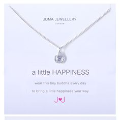 Official Joma jewellery a little happiness silver buddha necklace £12.99 from Lizzielane.com http://www.lizzielane.com/product/joma-jewellery-little-happiness-silver-buddha-necklace/