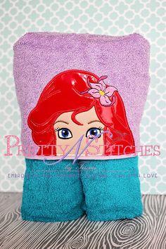 Princess Arri Peeker Applique Embroidery Design (5X7 Hoop)