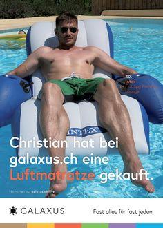 Christian hat bei galaxus.ch eine Luftmatratze gekauft. #GalaxusLive #Galaxus