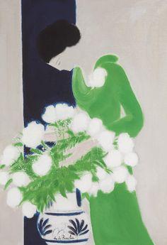 poboh:  La robe verte, Andre Brasilier. French (1929 - 2004)