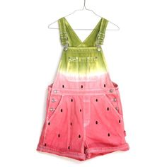 WATERMELON OVERALLS, hand painted jeans (25.470 HUF) ❤ liked on Polyvore featuring jumpsuits, overalls, shorts, dresses, jumpsuit, denim jumpsuit, vintage overalls, vintage jumpsuit, bib overalls and denim overalls