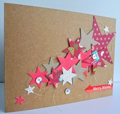 Met materialen uit de nieuwe iDEE&Post plus wat bling-bling en sterrenstansjes (MFT en Clearly Besotted) maakte ik kerstkaart nr. 19. D...