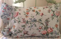 "Ralph Lauren"" TOULOUSE"" Floral Ruffle Pillowcase~Standard Sz~EUC #RalphLauren #FrenchCountryCottageChic"