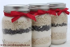 Homemade Gifts - Holiday mixes in jars