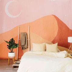 Muebles Home, Bedroom Murals, Bedroom Wallpaper, Wall Murals, Wall Wallpaper, Mural Art, Painting Bedroom Walls, Pink Wallpaper Home, Pink Wallpaper Living Room