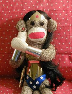 Wonder Woman Sock Monkey