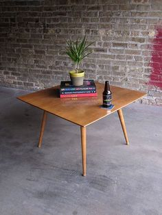 Paul McCobb cocktail table - solid maple.  $245