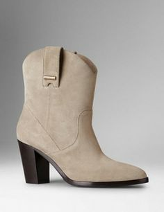 BURBERRY Suede Ankle Boots